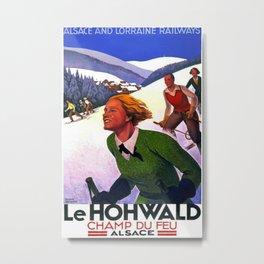 Le Hohwald Vintage Travel Poster Metal Print