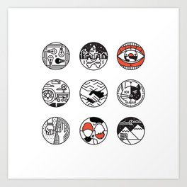 blurry icons Art Print