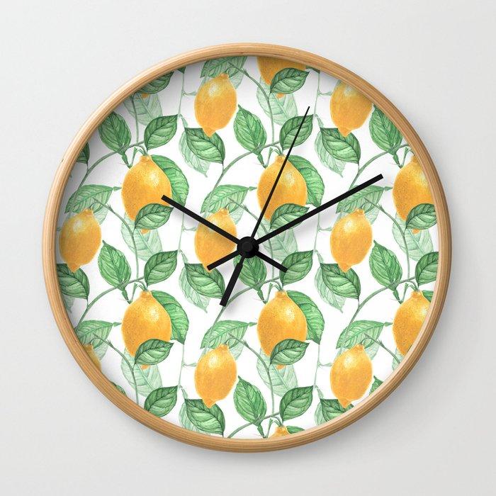 Lemon Garden Wall Clock