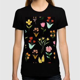 TINY LITTE COLORFUL  FLOWER PATTERN T-shirt