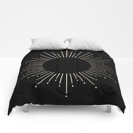 Sunburst White Gold Sands on Black Comforters