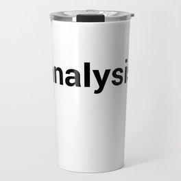 analysis Travel Mug