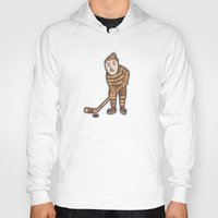 hockey Hoodies featuring Hockey Yeti by Kip Noschese