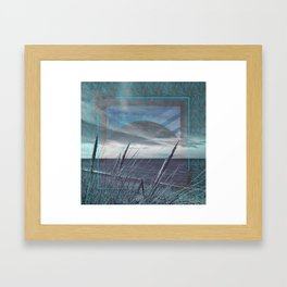Before the Storm - blue graphic Framed Art Print