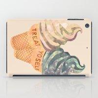 treat yo self iPad Cases featuring Treat Yo' Self by Suburban Bird Designs