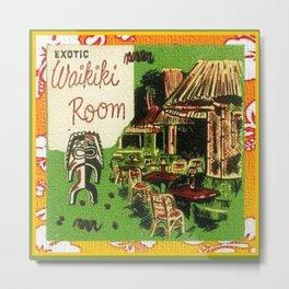 Tiki Art Exotic Waikiki Room Metal Print
