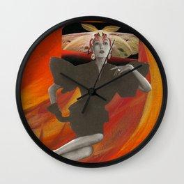 Moth Bonnet Wall Clock