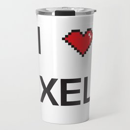 I heart Pixels Travel Mug