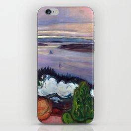Train Smoke by Edvard Munch iPhone Skin