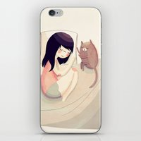 nan lawson iPhone & iPod Skins featuring Best Friends by Nan Lawson