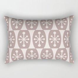 Mid Century Modern Atomic Fusion Pattern 334 Beige Rectangular Pillow