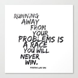 Running Away Canvas Print