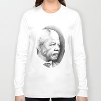 mandela Long Sleeve T-shirts featuring Nelson Mandela by Daniel Point