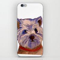 westie iPhone & iPod Skins featuring West highland terrier Westie dog love by Gooberella