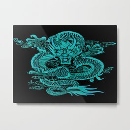Epic Dragon Teal Metal Print