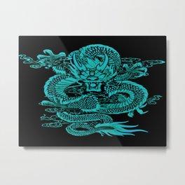 Epic Dragon Teal Metal Print
