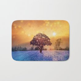 Miracle Tree in Frozen Tundra, Home Decor, Scenic Wall Art, Winter Bath Mat