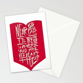 In a Heartbeat Stationery Cards