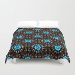 Stained Glass Starburst Pattern Duvet Cover