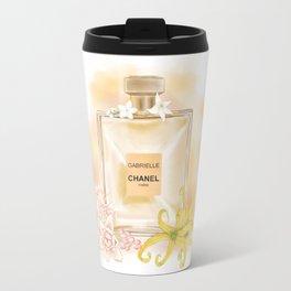Gabrielle Coco Perfume Fragrance Fashion Drawing Wall Art Illustration Watercolor Travel Mug