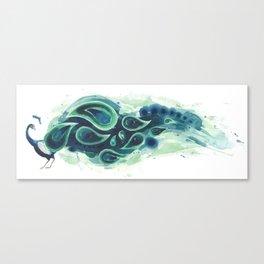 Horizontal Peacock Canvas Print