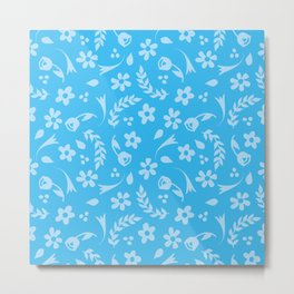 Macy - light blue Metal Print
