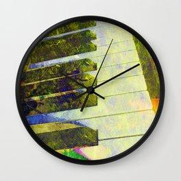 Piano art Wall Clock