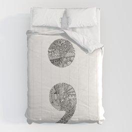 Patterned Semicolon #2 Comforters