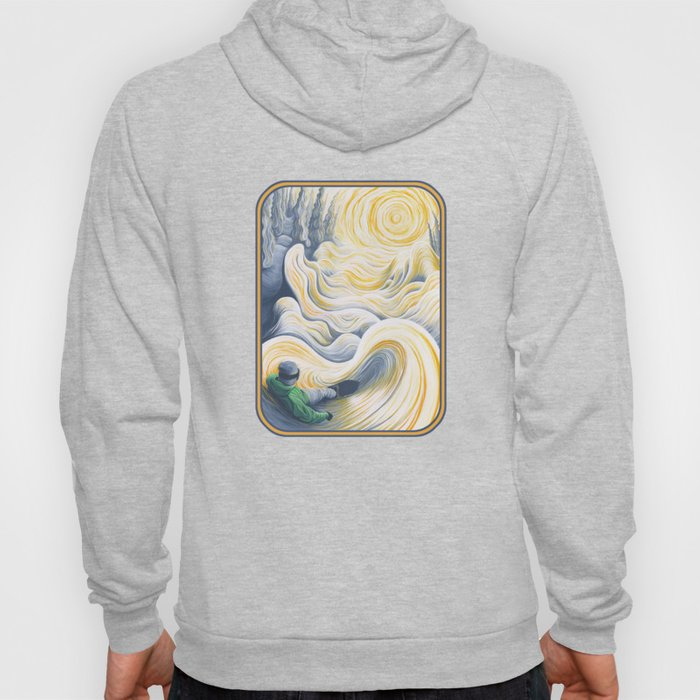 Snowboader in a 'Pillow Paradise' Hoody