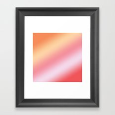 orange creamsicle - ombre Framed Art Print