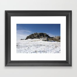Snowfall. Framed Art Print