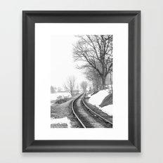 Down the line Framed Art Print