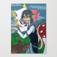 cheshire Canvas Prints featuring Cheshire by SofusGirl