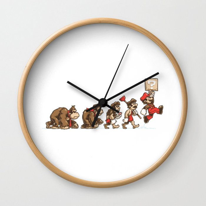 8-Bit Evolution Mario Wall Clock