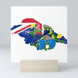 Distressed Pitcairn Map Mini Art Print