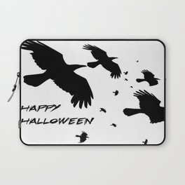 Happy Halloween Murder of Crows  Laptop Sleeve