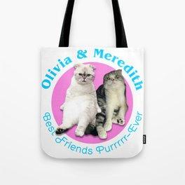 Olivia & Meredith Best Friends Purrr-Ever Original T-shirt Tote Bag