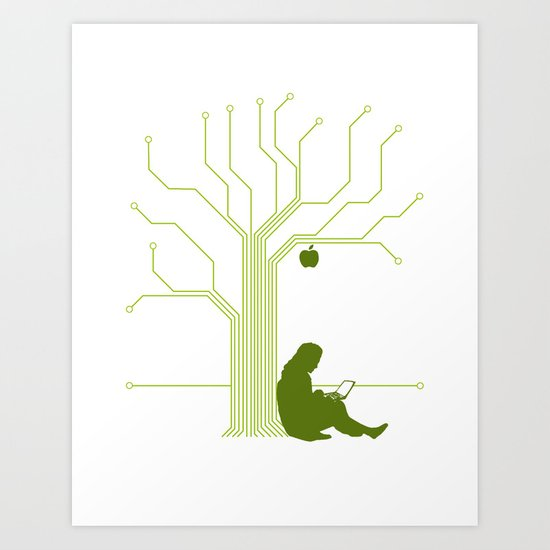 Apple CircuiTree Art Print