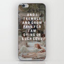 tremble and grow pale iPhone Skin