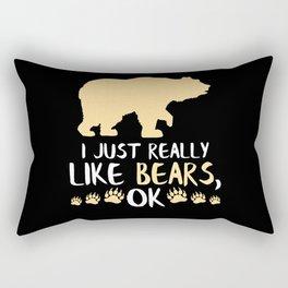 Bear Gift Bear Gifts Camping Hiking Gift Rectangular Pillow