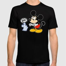 Micky Mouse Black Mens Fitted Tee MEDIUM