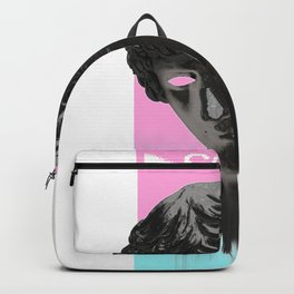 So Sad Aesthetic Vaporwave Ancient Greek Statue Sad Face design Backpack