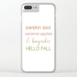 Autumn Words Clear iPhone Case