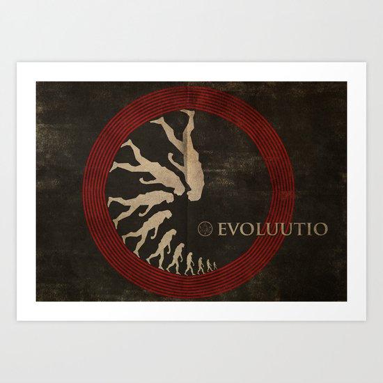 Evoluutio (Evolution) Art Print