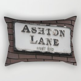 Ashton Lane, West End, Glasgow Rectangular Pillow