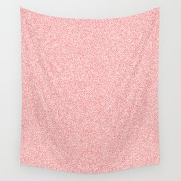 Melange - White and Coral Pink Wall Tapestry