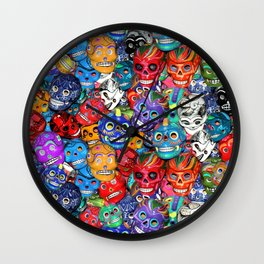 Calaveras Pequeñas - Little Sugar Skulls Wall Clock