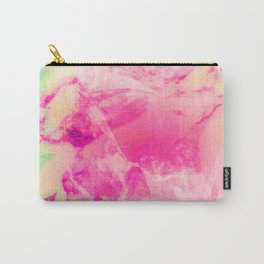 Mixed Pastel Marble Design Carry-All Pouch