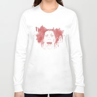 patrick Long Sleeve T-shirts featuring Patrick Bateman by Itxaso Beistegui Illustrations