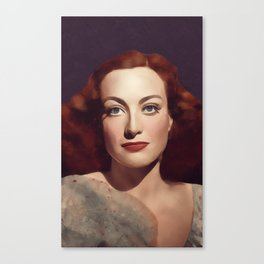 Joan Crawford, Hollywood Legend Canvas Print